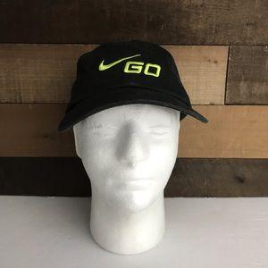 Vintage Nike Go black Green Dad hat guc